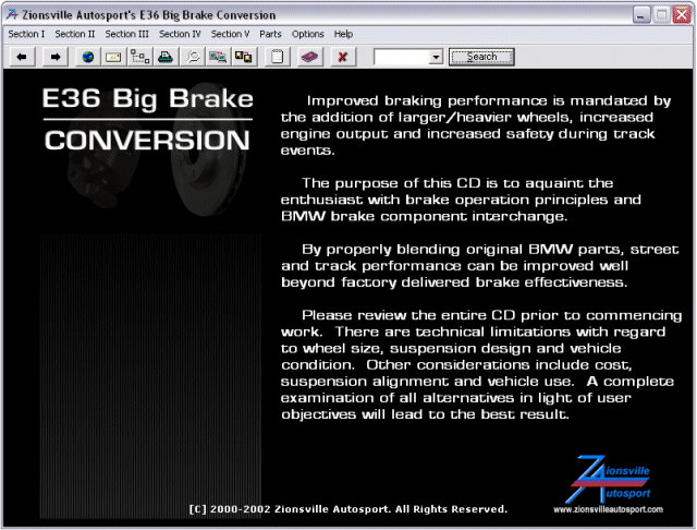 BMW E36 Big Brake Conversion Manual