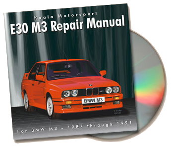 BMW E30 M3 Repair Manual on CD-ROM